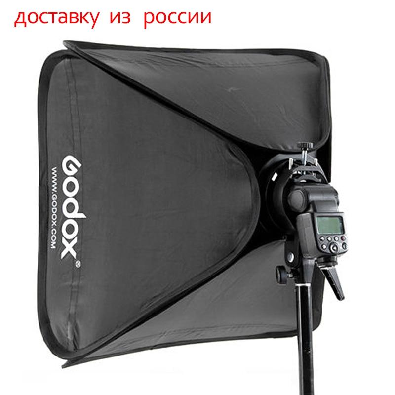 Godox 80x80cm Softbox Bag light box Kit for Camera Studio Flash fit Bowens Elinchrom mouth photography accessories аксессуары для фотостудий godox 60x60cm flash bowens elinchrom