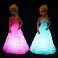 Natal levou luminarias infantil nightlight led mudança de cor noite conduziu a lâmpada de luz alimentado por bateria luz da noite do bebê Brinquedos Infantis