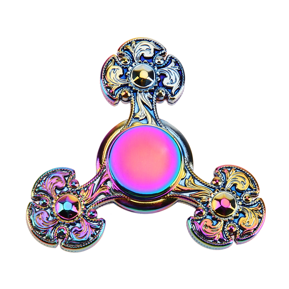 Fidget Spinner Fast Rotation Flower Alloy EDC Hand Spinner for Autism and ADHD Anxiety Stress Relief