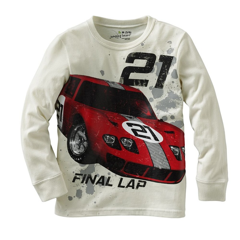 2017 Autumn Racing Car Baby Girls T-Shirt Children Cotton Tops Baby Boy Clothes Long Sleeve Tee Shirt Popular Kid Blouses