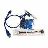 PCI-E pcie Riser Card 4PIN USB3.0 PCI-E 1 bis 4 PCIe Adapter 1 Drag 4 PCI-E 1X Erweiterungskarte 4-port PCIe Slot