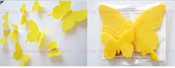 Yellow Butterfly 3D 12Pcs/Set  1