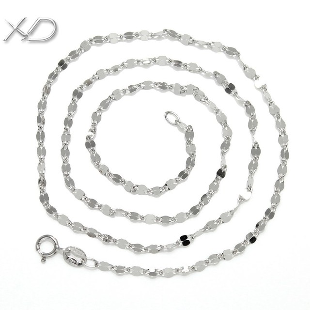 XD Y702 925 sterling silver link chain lovers necklace on best price
