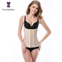 887# 100% rubber and cotton Women shapers Waist Slimming Appliques Shapewear Bodysuit hooked spaghetti corset vest