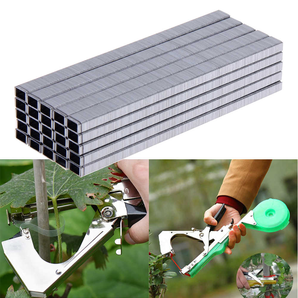 10000 Uds rama carpeta cinta para uñas herramienta para atar cinta injerto uñas herramientas de jardín Bonsai secattors Agrafes grapas
