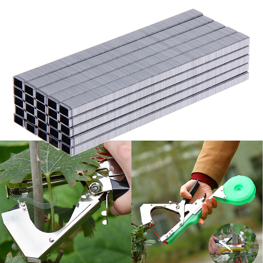 10000pcs Branch Binder Nail Tape Tool For Tying Grafting Tape Nails Garden Tools Garden Bonsai Secateurs Agrafes Staples