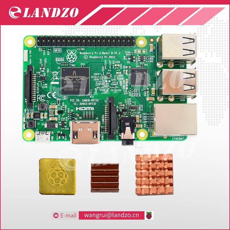 Raspberry Pi 3 Model B 1G 64 Bit Quad Core ARM WiFi Bluetooth CPU Aluminum Heat