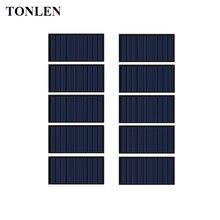 TONLEN 10Pcs Solar Panel 5V 60mA Epoxy Solar Cell DIY Polycrystalline Silicon Mini Battery Power Charger