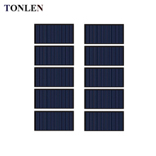 TONLEN 10Pcs Solar Panel 5V 60mA Epoxy Solar Cell DIY Polycrystalline Silicon Mini Battery Power Charger Module Solar 68*36mm
