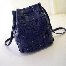 2016 новый мешок femme ведро тканые сумки новые оптовые варианты 5 цвета горячая бесплатная доставка mochilas escolares femininas adolescentes