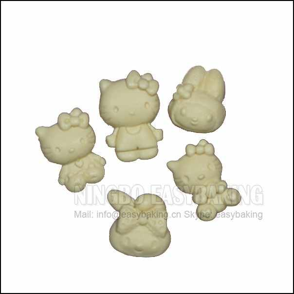 5 Buraco Gato Bonito Mini Kitty Silicone Molde Do Bolo de Decoração Molde de Silicone Para Fondant Artesanato Doces Jóias PMC Argila Resina