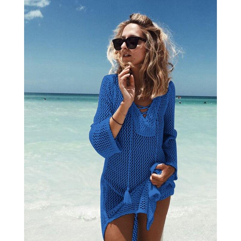 Praia de Maiô Feminino Pareo Vestidos Lace Cover