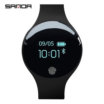 SANDA smart watch for IOS Android men's digital watch smart pedometer fitness waterproof sports watch Bluetooth clock clock ogeda smart men watch ex28 waterproof bluetooth wristwatch sport pedometer stopwatch call sms reminder for ios android