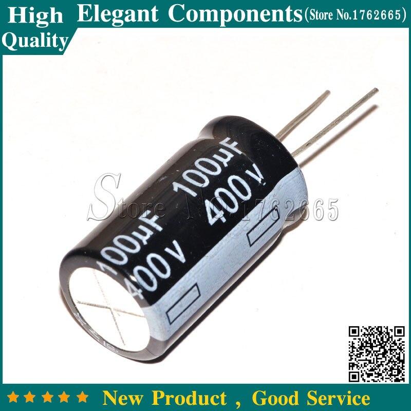 5pcs 400v 100uf 100mfd aluminum electrolytic capacitor 16×30mm