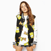 NEW 2016 Women Brand Harajuku College Wind Spell Color Stitching Baseball Jackets Women Sweatshirt Tops Y0306
