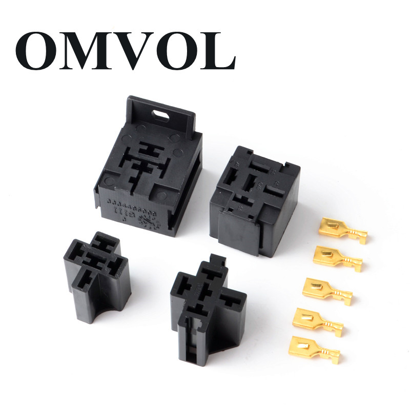 2set Car Auto Vehicle 5 Pin Relay Socket Holder With 5pcs