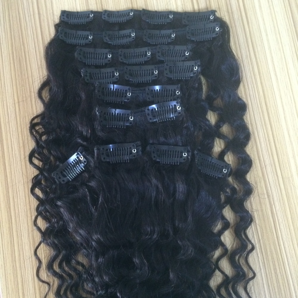 Great Cheap Clip Hair Extensions Dubai Clip In Deep Wave Curly Hair