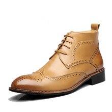 3 цвета США 6-10 Новая Мода Британский Mens Вскользь кружева ковбой кожа как платье Ботильоны Обувь
