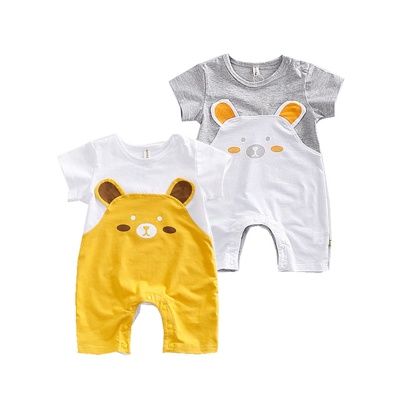 2017 Cartoon Baby Romper Cute Bear Infant Clothes Cotton Body Ropa De Bebe Long Sleeve Infant Boys Girls Summer Jumpsuit Outwear baby clothing summer infant newborn baby romper short sleeve girl boys jumpsuit new born baby clothes