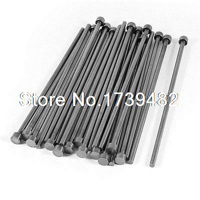 25 Pcs 4mm Diameter Round Tip Steel Straight HSS Ejector Pin