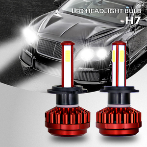 Image 3 - 8000LM 4 Lati 360 ° Luminosa del Riflettore H7 Ha Condotto il Faro Lampadine Auto Testa Lmap Luce hb4 9006 H8 H11 hb3 9005 HA CONDOTTO LA Luce Della Lampadina 6000K