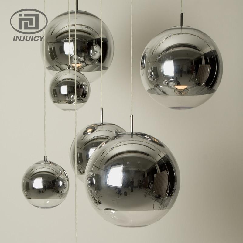 Modern Silver Plating Tom Dixon Glass Ceiling Lights Home Vintage Glass Lampshade For Cafe Bar Dining Room Hanging Lighting
