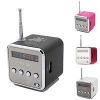 Centechia Portable Mini Speaker Aluminum Alloy Stereo Loudspeaker Music Player With FM Radio Support SD Card