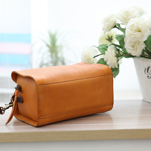 Image 4 - YIFANGZHE ขนาดเล็กผู้หญิงหนัง Messenger กระเป๋าสไตล์วินเทจแฟชั่น Cowhide ไหล่กระเป๋ากระเป๋าถือหนัง
