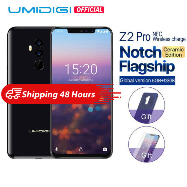 "UMIDIGI Z2 Pro Ceramic Edition 6.2"" Full screen smartphone Android 8.1 Helio P60 6GB+128GB 16MP 4G LTE NFC Wireless Mobile phone"