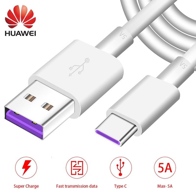 Huawei Type-C Cable Supercharge Usb-3.1 P20 Mate20 Plus-Lite 10-Pro Original P10 5A P30
