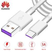 Huawei USB 5A Type C Cable P30 P20 Pro lite Mate20 10 Pro P10 Plus lite USB 3.1 Type-C Original Supercharge Super Charger Cable
