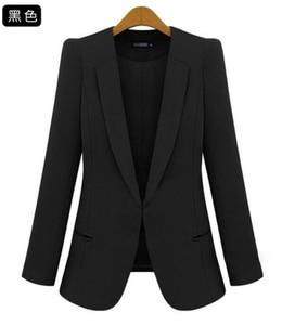 Image 2 - 2020 New Plus Size Womens Business Suits Spring Autumn All match women Blazers Jackets Short Slim long sleeve Blazer Women Suit