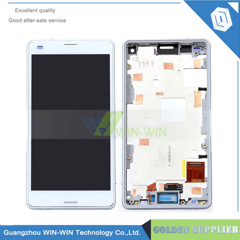 Подробнее о LCD Display + Touch Screen Digitizer Assembly Replacement for Sony Xperia Z3 Compact M55W Z3 mini With Frame lcd display touch screen white frame open tools for sony xperia z lt36i lt36h lt36 c6603 c6606 c6602 l36h replacement