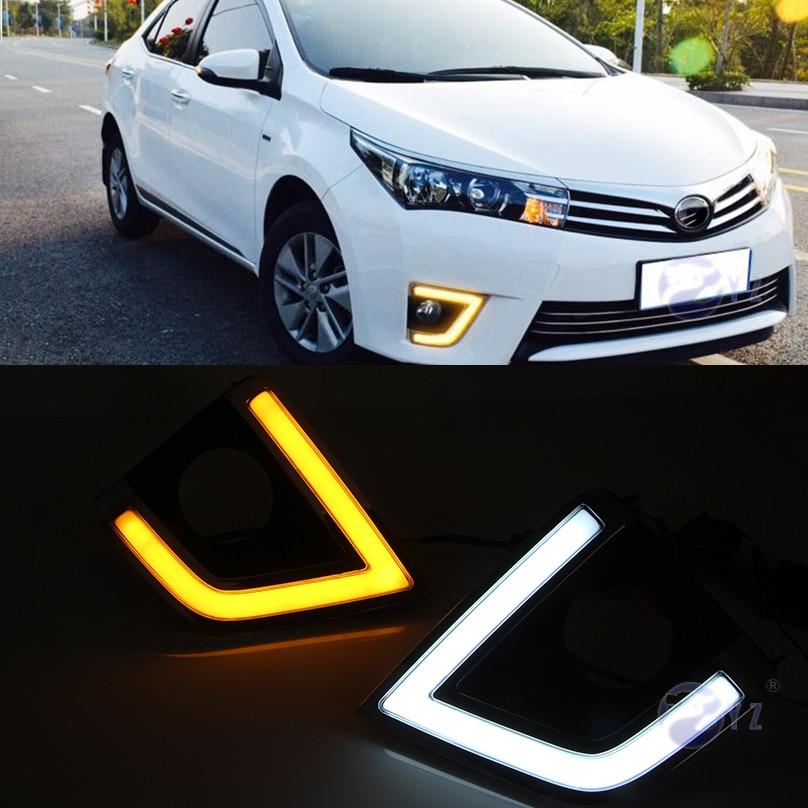 Car Flashing 1 Set Drl For Toyota Corolla 2014 2015 2016