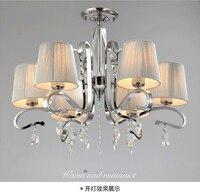Многослойная ткань затенения стекла, хрустальные люстры большой металлической лампа ZX183