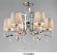Multi camada de tecido sombreamento lâmpada de vidro da lâmpada pingente de cristal grande de metal ZX183