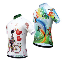 JESOCYCLING Women's Cycling Jersey  Summer Bicycle Baillot Breathable MTB Short Sleeve Bike Jersey  Ropa Ciclismo Bike Shirts