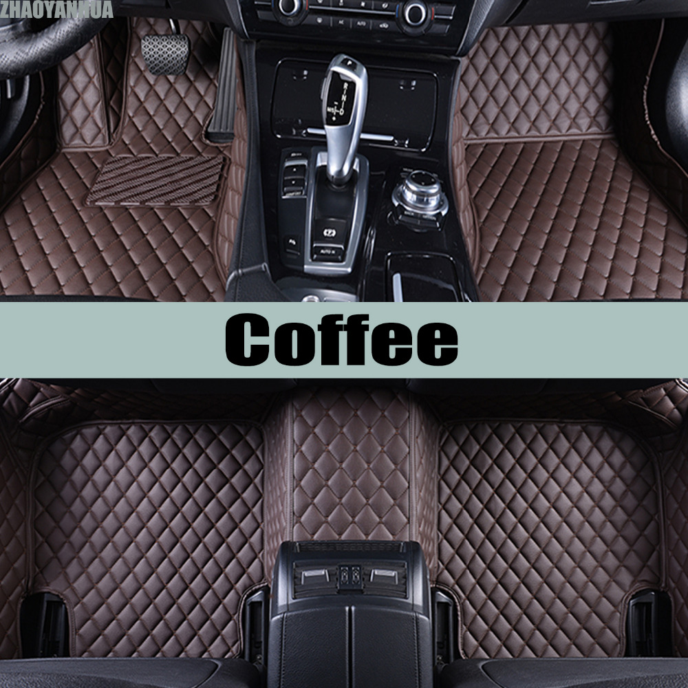 Zhaoyanhua car floor mats for honda fit 5d sepcial all weather car styling carpet rugs floor