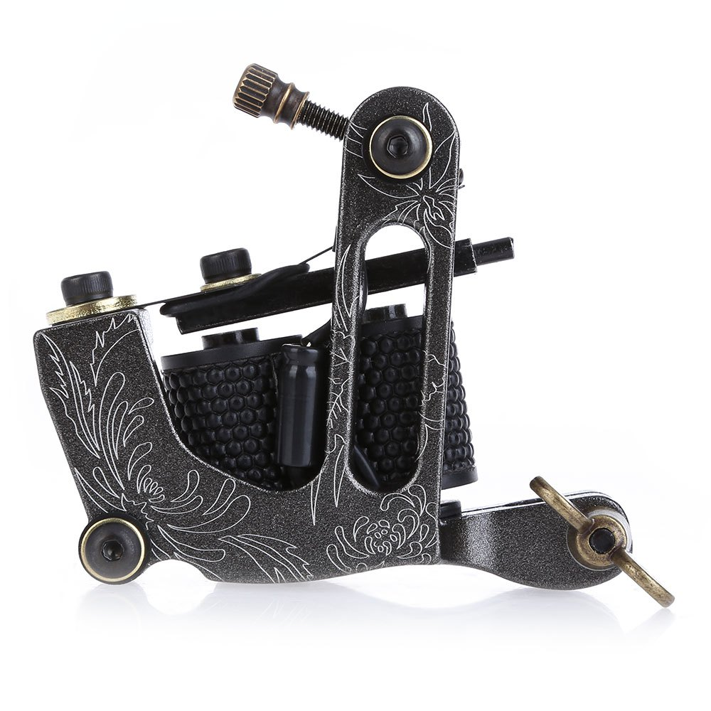 New Arrival Coil Tattoo Machine 8 Wrap Coils Tatoo Gun Black Steel Tattoo Frame for Liner