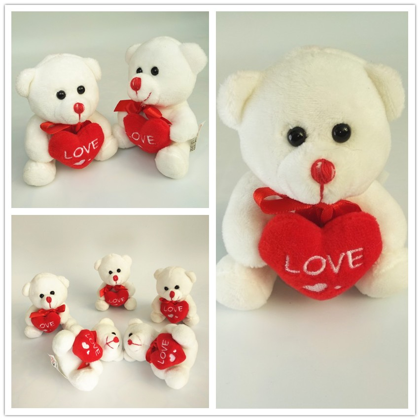 Mini High Quality Love Soft Teddy Bear Stuffed Animal Plush Toys Bear For Valentine's Day Gifts Boys Girls Birthday Gifts