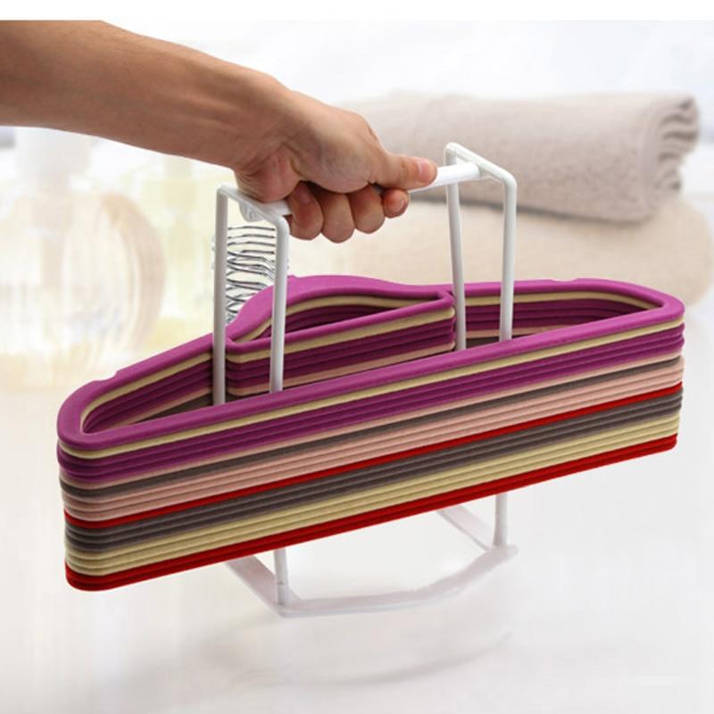 Top Fashion Real Floor Type Single Shelf Plastic Clothes Rack Storage Modern Brief Home Shelves Folding Rack Eco-friendly
