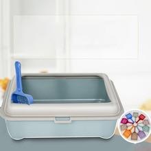 Anti-Splash Reusable Cats Litter Box Bedpan Pet Toilet Semi-closed Bedpans Supplies