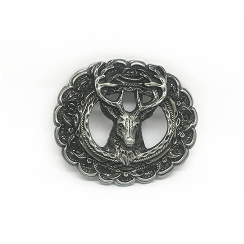 Vintage Western Zinc Alloy Buckle Hollow 3D Deer Head Belt Buckle For 4.0 Belt Accessories