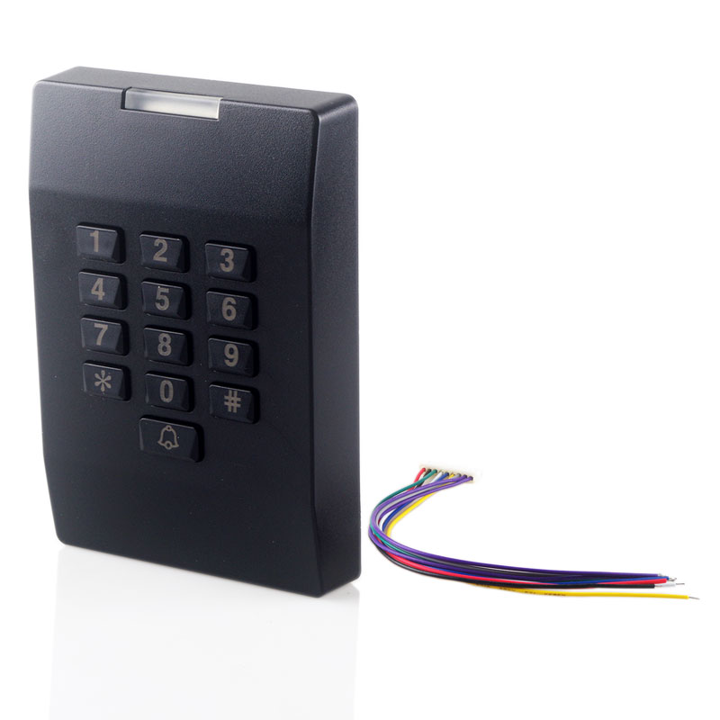 EM Card Reader Door Access with Keypad RFID Proximity Smart Card Reader Wiegand Interface 13.56MHZ Smart Card Reader high quality proximity rfid card reader without keypad rs232 access control rfid reader door access card reader customized rs232
