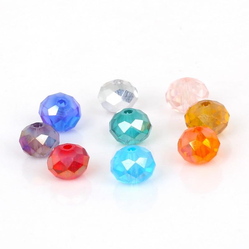 2, 3, 4, 6, 8 мм около 70-195 шт хрустальные бусины AB разноцветные стеклянные бусины Sapcer для изготовления ювелирных изделий DIY браслет ручной работы оптом
