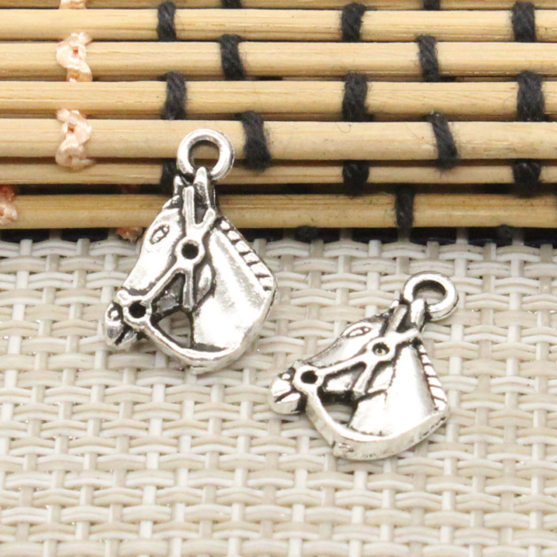 10pcs Charms horse head 17*13mm Tibetan Silver Plated Pendants Antique Jewelry Making DIY Handmade Craft