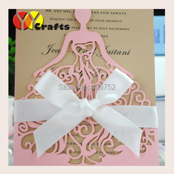 Sweet girl pink birthday wedding invitation card laser cut special 193 stopboris Images