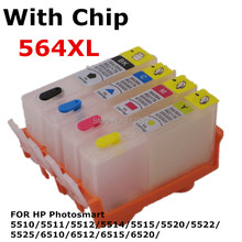 BLOOM compatible For 564 XL Refillable ink Cartridge for HP Photosmart 5510 5511 5512 5514 5515522