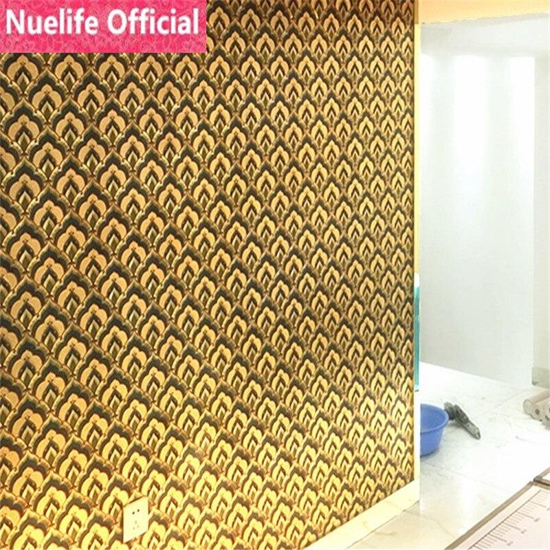 Modèle classique chinois or et argent feuille d'or papier peint hôtel salon chambre KTV salon fond papier peint - 2