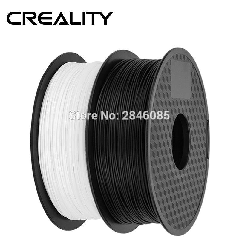 Ender Brand PLA Filament Samples 2Pcs 1KG roll 1 75mm Black White Two Color for CREALITY